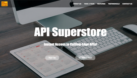 Screenshot of API Superstore company website